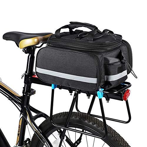 Lixada Bolsa Trasera Bicicleta Impermeable Gran Capacidad Alforja Portaequipajes para Bicicleta de Montaña