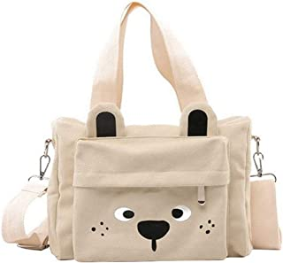 Fanspack Womens Handbag Creative Cute Casual Canvas Handle Bag Crossbody Bag Shoulder Bag