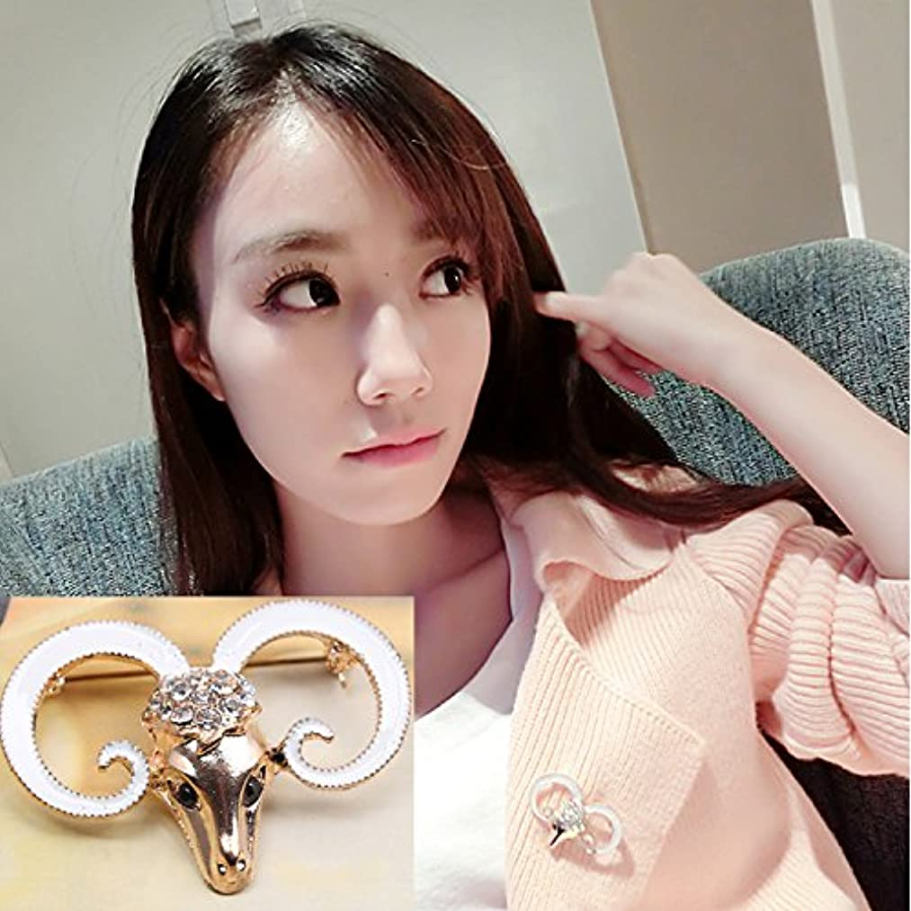 Ram personalized jewelry gift Korean wild goat brooch crown brooch Korean women girls female accessories Ly operation