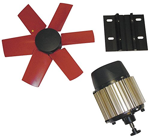"""Multifan 14"""" Corrosion Resistant Exhaust Fan Kit, Number of Blades 6, 1 Phase, Motor RPM 3250-7HY33"""