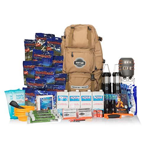 Comfort 4 - Sac de survie et de secours / Kit de survie d'urgence - Équipement complet pour 72 heures pour 4 personnes pour survivre face à une catastrophe