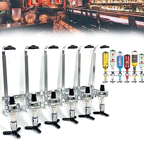 6-fles wandmontage flessenhouder wijn en drank houder wandmontage dispenser bar butler drinkhouder huishoudelijke bar…