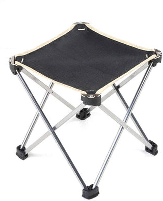 FH Outdoor Portable Stool, Aluminum Fishing Lounge Chair Ultra Light Folding Beach Camping Folding Stool 24×25cm