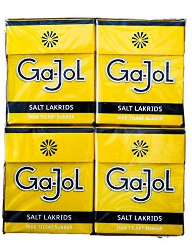 Ga-Jol gelb Salz-Lakritz zuckerfrei 8er 184g