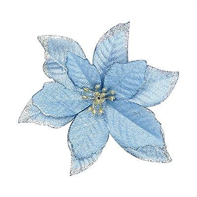 6 Artificial Poinsettia Christmas Flower Decoration