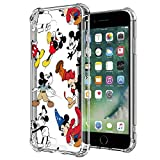 DISNEY COLLECTION iPhone 7/ iPhone 8 Case Disney Mickey Crystal Clear Design Case with 4 Corners Shock Skid Proof Scratch-Resistant PC+TPU Environmentally Friendly Blended Material Protection Cover