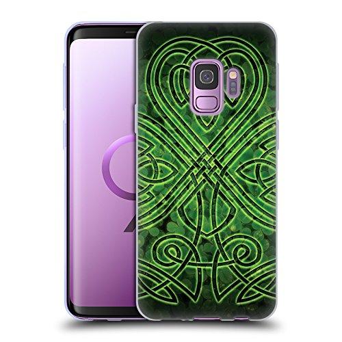 Head Case Designs Officially Licensed Brigid Ashwood Irish Shamrock Celtic Wisdom 3 Soft Gel Case Compatible with Samsung Galaxy S9