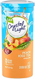 Crystal Light Peach Tea Drink Mix (72 Pitcher Packets, 12 Canisters of 6)