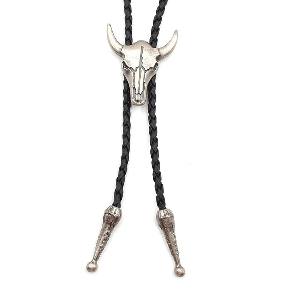 Jenia Western Cowboy Bolo Tie Rodeo Necktie Leather Cord Pendant Necklace for Men Women