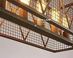 ZHENYUE Chandeliers ® Vintage Industrial Pendant Ceiling Light Steampunk Retro LOFT Creative Metal Iron Cage Chandelier 6 Lights Living Room Bedroom Bar Restaurant Decoration Lighting Chandelier ZHENY #4