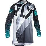 370-720S - Fly Racing 2017 Lite Hydrogen Motocross Jersey S Black White Teal