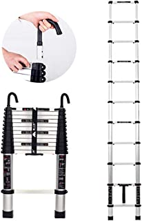 LXLA Telescoping Tall Ladder with Hook, Folding Aluminum Telescopic Ladder, Multi Purpose Extension Ladders for Roof Attic Outdoor - Suggests 150kg (Size : 2.0m/6.56ft)