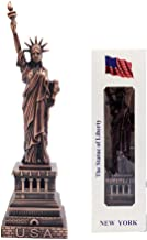 """Jproducts Cold Cast Bronze Copper Silver NY Statue of Liberty Collectible Metal Figure Souvenir Gift 6 1/4""""x 1 7/8"""" Gold"""