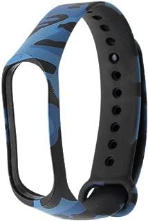 Mi cosa Camouflage Style Black and Blue Strap (only for mi Band 3/4/ 3i) (NOT for mi Band 2/HRX) for mi Band 3/4/3i Wristband for xiaomi mi band3 band4 band3i