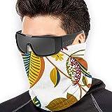 Photo de ShiHaiYunBai Tour de Cou Cagoule Microfibre Chapeaux Tube Masque Visage, Maple Leaves Soft Neck Warmer Gaiter Face Protective Scarf Balaclavas Unisex