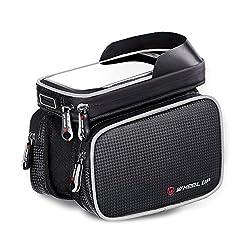 Fozela Fahrradtasche Rahmentaschen, Fahrrad Handy Rahmen Tasche Lenkertasche Satteltasche Doppeltasche Geeignet für ALLE Fahrradtypen(Gray)