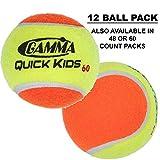 Gamma Sports Kids Training (Transition) Balls, Yellow/Orange, Quick Kids 60, 12-Pack