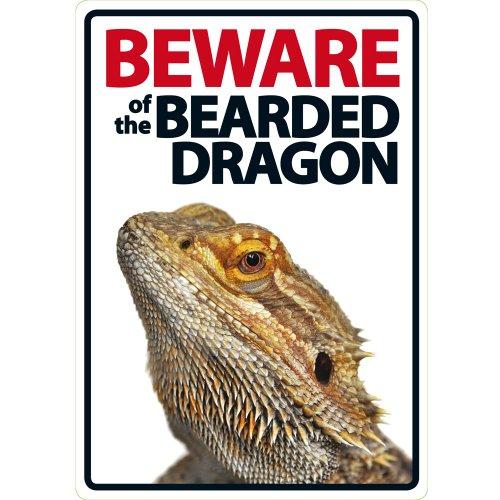 Magnet & Steel Panneau en Plastique Beware of The Bearded Dragon