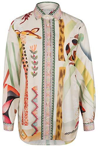Etro Damen Bluse mit Animalprint Beige - 40 (IT46)