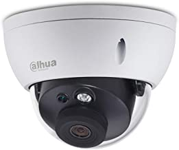 Dahua 6MP IP PoE Security Camera IPC-HDBW4631R-AS 2.8mm Fixed Lens Outdoor Indoor Surveillance Camera Dome with Audio and Alarm Input/Output,ICR,Motion Detection H.265 IP67 Weatherproof ONVIF