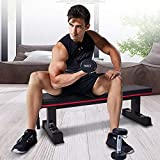Ollieroo Flat Bench Workout Bench Flat Utility Weight Bench Weight Training Sit...