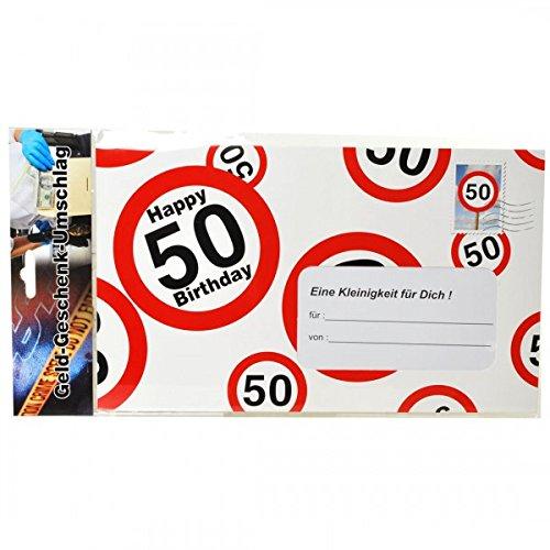 Verjaardag grote envelop 50 jaar voor geldgeschenken party decoratie Birtday