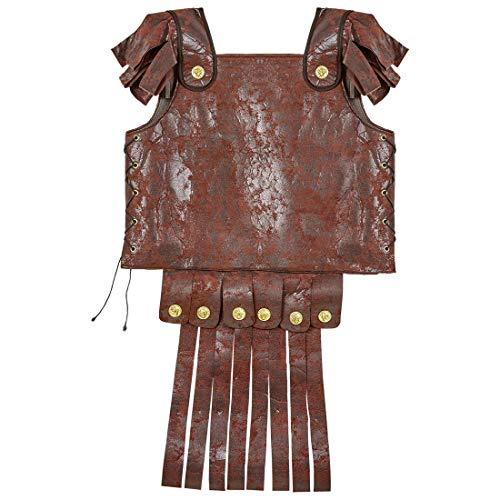 NET TOYS Römische Rüstung für Erwachsene   Braun   Außergewöhnliches Herren-Kostüm Gladiator-Harnisch aus Leder-Imitat   Passend gekleidet für Fasching & Karneval