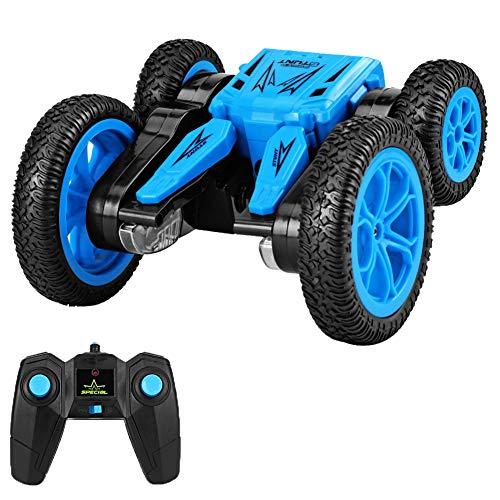 2.4Ghz Afstandsbediening Stunt Auto Dubbelzijdige Rijdende Voertuigen, 360 ° Rotatie/Vervormbare Voertuigen Speelgoed met Licht, Kinderspelletjes Grappige Cadeaus Coole Gadgets voor Jongens Meisjes
