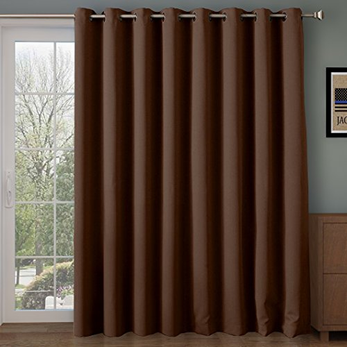 Rose Home Fashion Thermal Insulated Blackout Patio door Curtain Panel,...