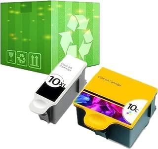 J2INK 2 Pack 10 XL Ink Cartridges for Kodak ESP 5210 7250 3250 5250 9 5 7 9250 Printer
