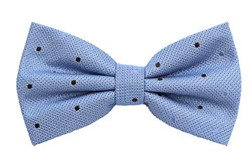 Fabio Farini - Elégant nœud papillon pour homme à pois pour toutes les occasions comme le mariage, la confirmation, le bal Bleu acier à motifs (bleu c