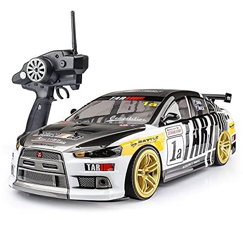 CUIGANGZ 1/10 escala de alto tamaño de alta velocidad control remoto coche 4WD Anti-aplastamiento RC Carreras de carreras 2.4GHz Eléctrico 4x4 Racing Hobby Toy Car Drift Juguete Vehículo for adultos y