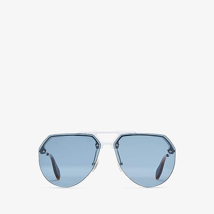 Alexander McQueen  AM0139S (Palladium/Havana) Fashion Sunglasses