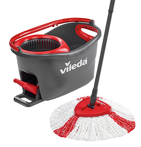 Vileda Turbo Mop Set, Black & Red, 48.5 x 27.5 x 28 cm