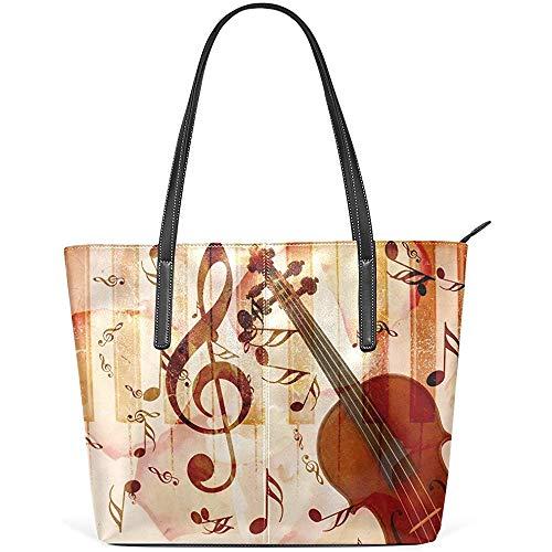 G.H.Y Retro Musik Gitarre Klavier PU Leder Schulter Tasche Geldbörse für Frauen Mädchen