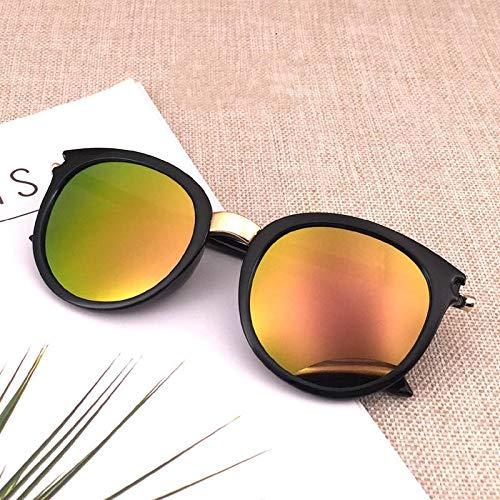 Único Gafas de Sol Sunglasses Gafas De Sol Clásicas Redondas Vintage para Mujer, Diseño De Moda, Gafas De Sol con Espejo
