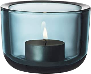 Iittala Valkea Tealight Holder, Sea Blue