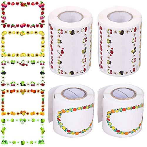 Dancepandas Confetture Regalo 600PCS Etichette Jam Etichette Marmellate Adesive Etichette Congelatore per Decorare Barattoli, Vino, Dispensa, Casa e Ufficio