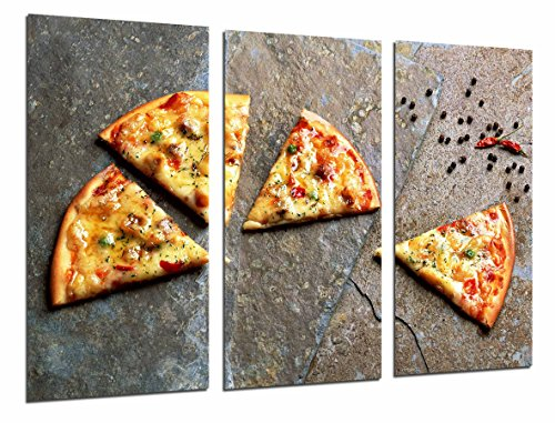 Cuadro Fotográfico Restaurante Italiano Pizzeria, Pizza Tamaño total: 97 x 62 cm XXL