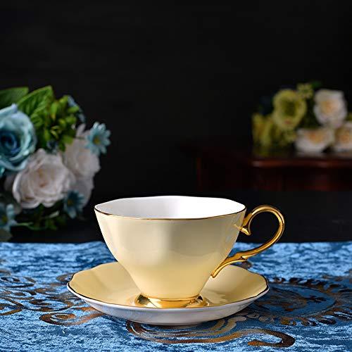Das Porzellan - Tasse Kaffee Mit Milch - Cup Wurden Knochen Porzellan Keramik - Cup Im Europäischen Stil,Kanarischen Gelb