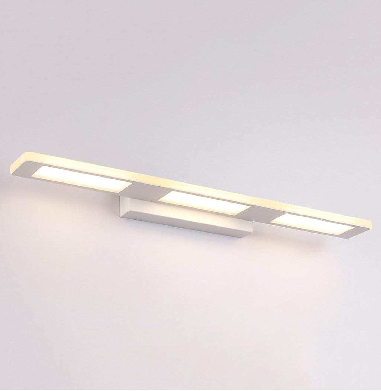 QAZ Badezimmerspiegel Beleuchtung LED - Beleuchtung, mit wasserdichten Bad Wand Lampen (Kalt Wei, Warmwei) (Farbe  Square warmes Licht 55 cm 18 W)