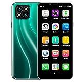 ZZYH Teléfono 3 GB + 32 GB Mini Móvil, SIM Libre Abrió Teléfono, 3,46 Pulgadas Pantalla, Batería 2200mAh, 8MP Delantera+13MP Cámara Trasera, Android Smartphone 6, Face ID/Huella Digital Pantalla