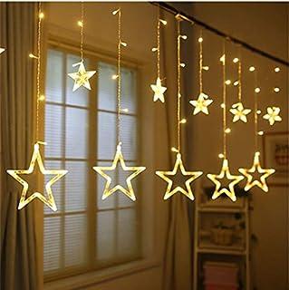 Led String Lights Star Moon Decorative Curtain Lights for Chrismas, Party, Wedding, New Year, Ramadan, Garden Eid Décor Gi...