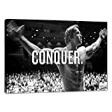 Arnold Schwarzenegger Conquer Motivational Wall Art Pictures Inspirational Entrepreneur Quotes Posters Prints on Canvas Inspiring Office Gym Wall Decor Painting Artwork Home Decoration - 12'Hx18'W