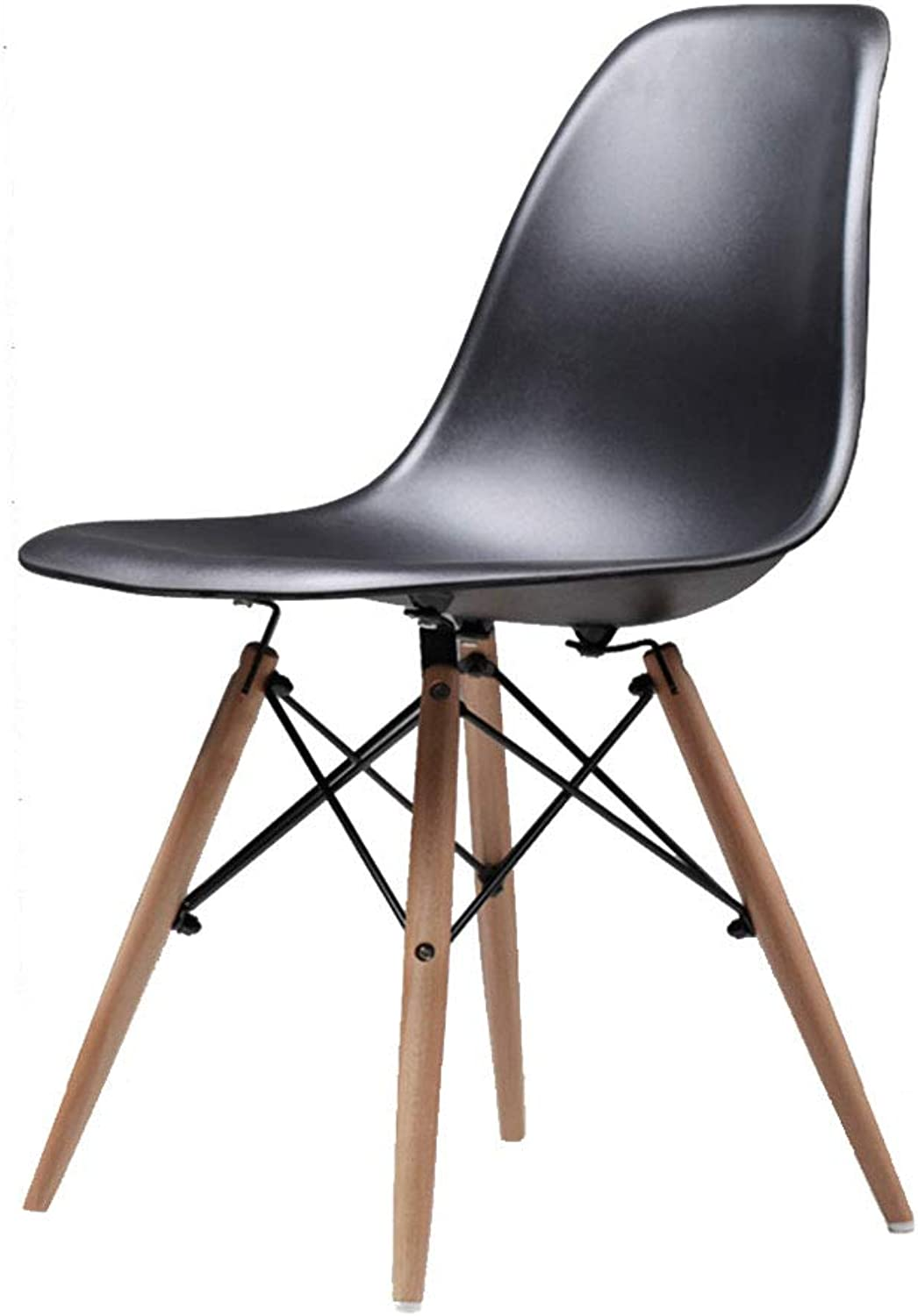 Chair Dining Room Stool Dining Chair Nordic Wood Home Student backrest Chair Dining Room Furniture (color   Black-A, Size   45  45  82CM)