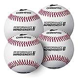 Champro Training Baseball, Set of 4 (White, 7.5-Inch)