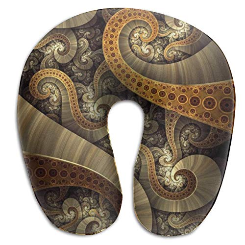 U Shaped Pillow Neck Retro Octopus Travel Multifunctional Pillow Car Airplane