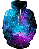 sanatty Unisex Hoodies 3D Print Galaxy Pullover Hooded Sweatshirt Hoodies with Big Pockets