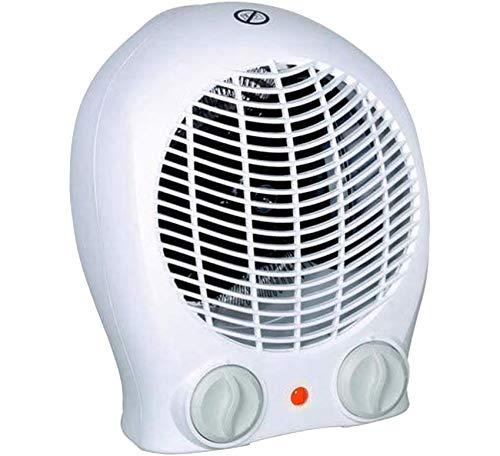 Chauffage d' appoint, Radiateur électrique soufflant puissant et confortable, Chauffage miniTurbo performant et compact - 3 Positions - Ventilation /1000W / 2000W - Thermostat réglable.