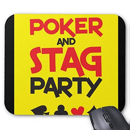 Rundes Mauspad mit rutschfestem Gummi, Gaming-Design, 20 x 24 cm, Poker und Junggesellenabschied, Grußkarte